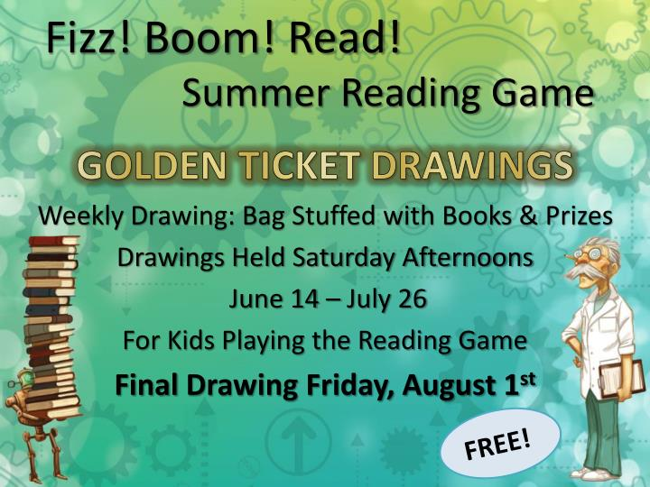 Fizz boom read summer reading game