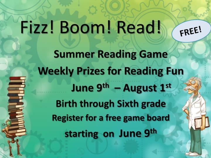 Fizz! Boom! Read!
