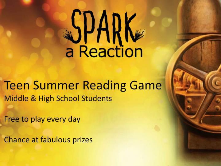 Teen Summer Reading Game