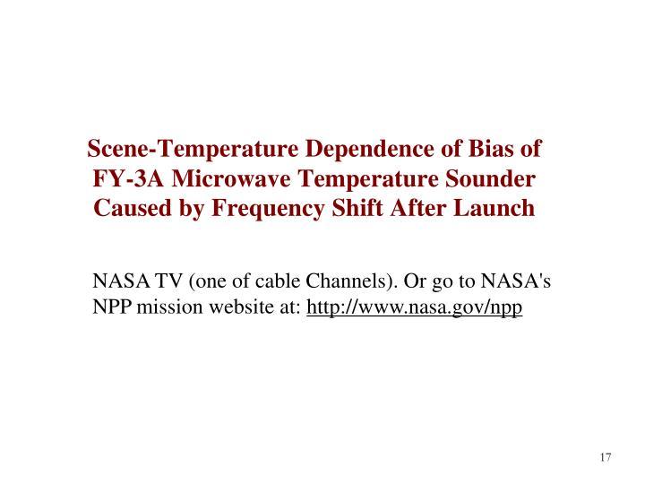 Scene-Temperature Dependence of Bias of
