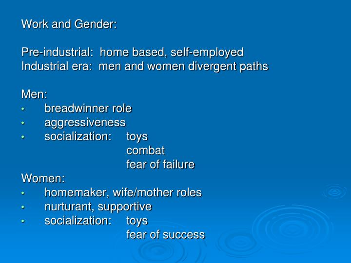 Work and Gender: