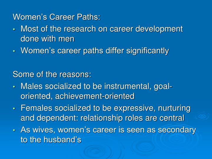 Women's Career Paths: