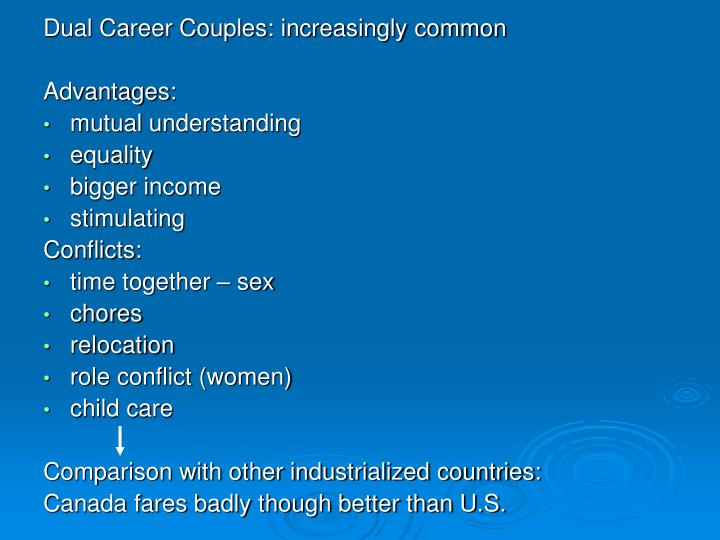 Dual Career Couples: increasingly common