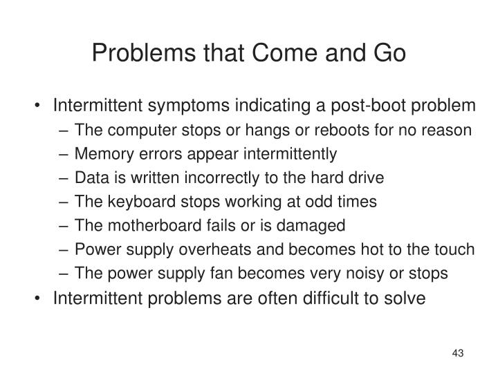 Problems that Come and Go