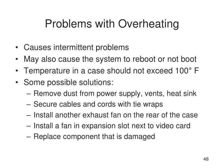 Problems with Overheating