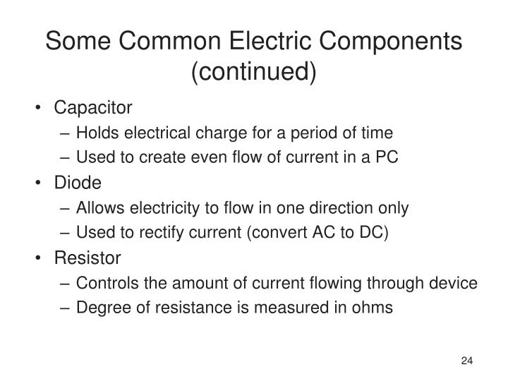 Some Common Electric Components (continued)