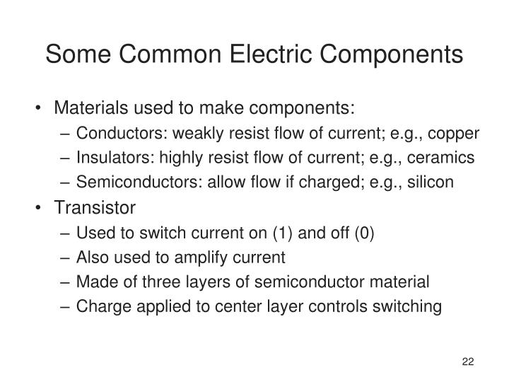 Some Common Electric Components