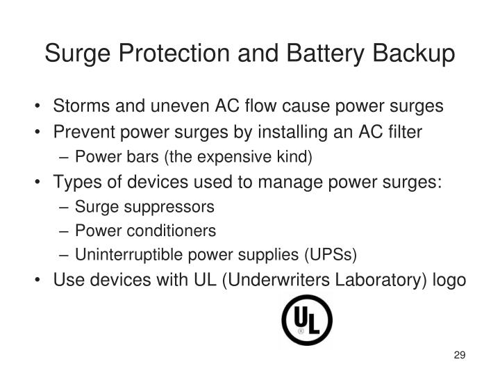 Surge Protection and Battery Backup