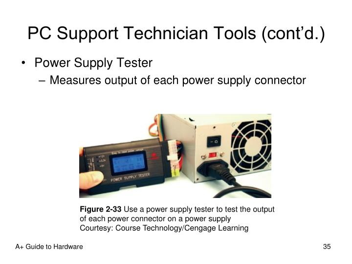 PC Support Technician Tools (cont'd.)
