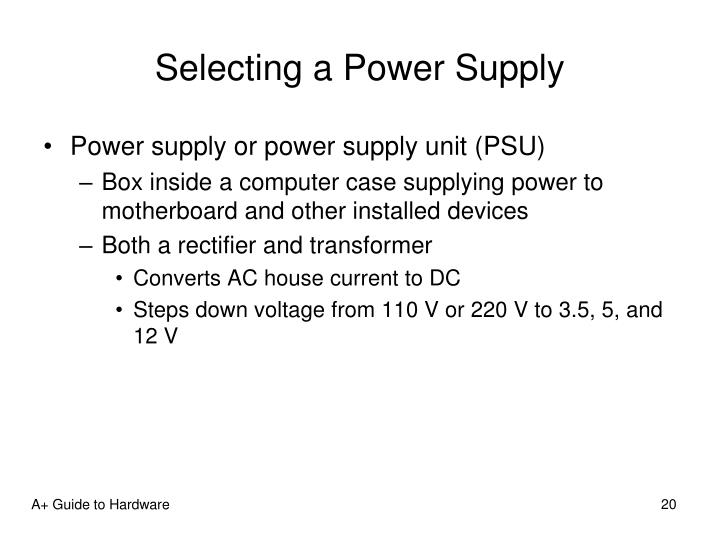 Selecting a Power Supply