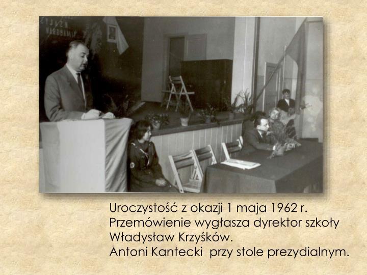 Uroczystość z okazji 1 maja 1962 r.