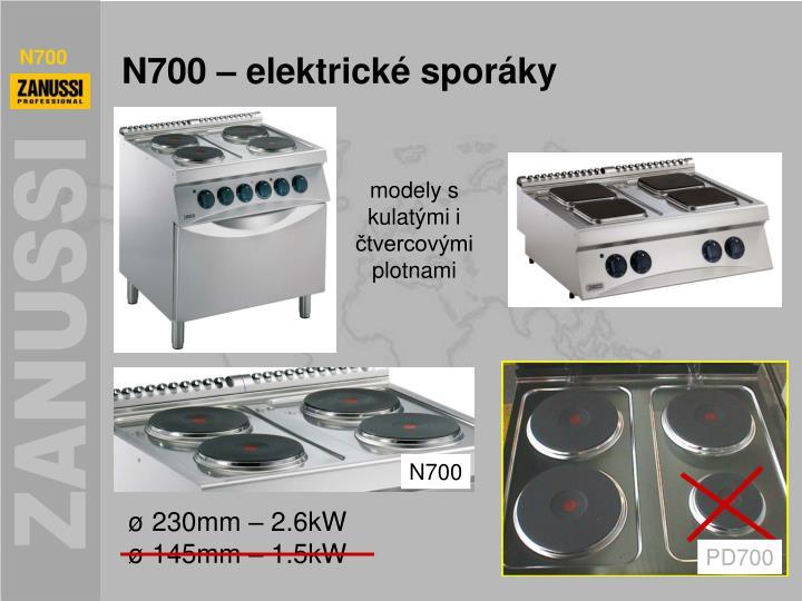 N700 – elektrické sporáky