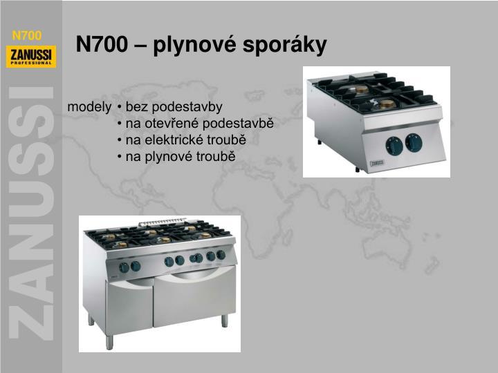 N700 – plynové sporáky