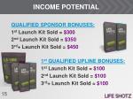 income potential