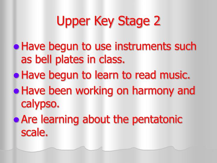 Upper Key Stage 2