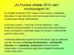 az eur pai oktat s 2010 ut n munkacsoport 4