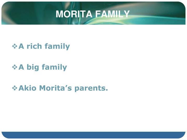 MORITA FAMILY