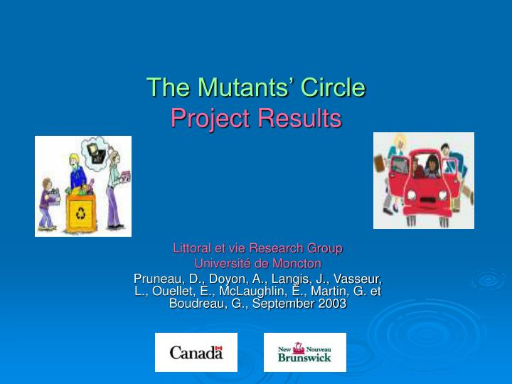 the mutants circle project results n.