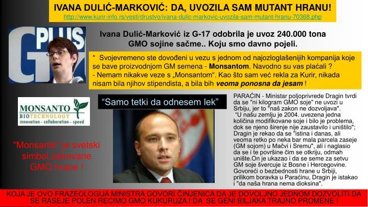 IVANA DULIĆ-MARKOVIĆ: