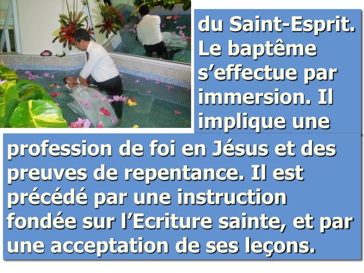 du Saint-Esprit. Le baptême s