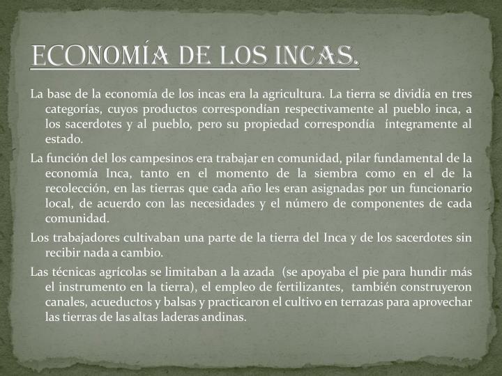 Eco nom a de los incas