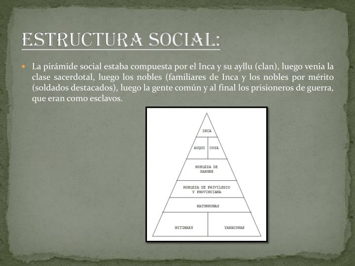 ESTRUCTURA SOCIAL: