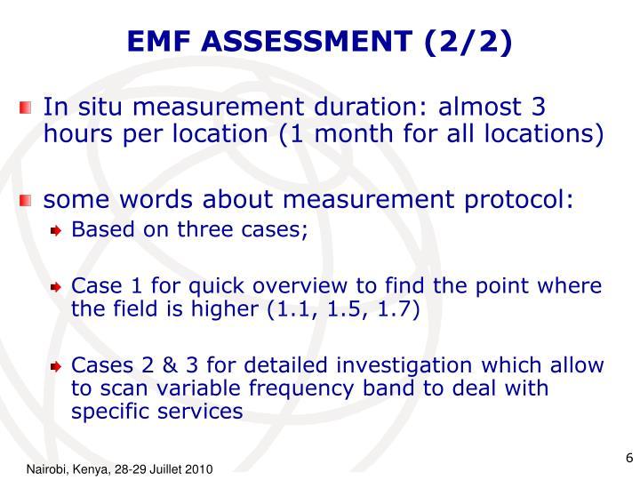 EMF ASSESSMENT (2/2)