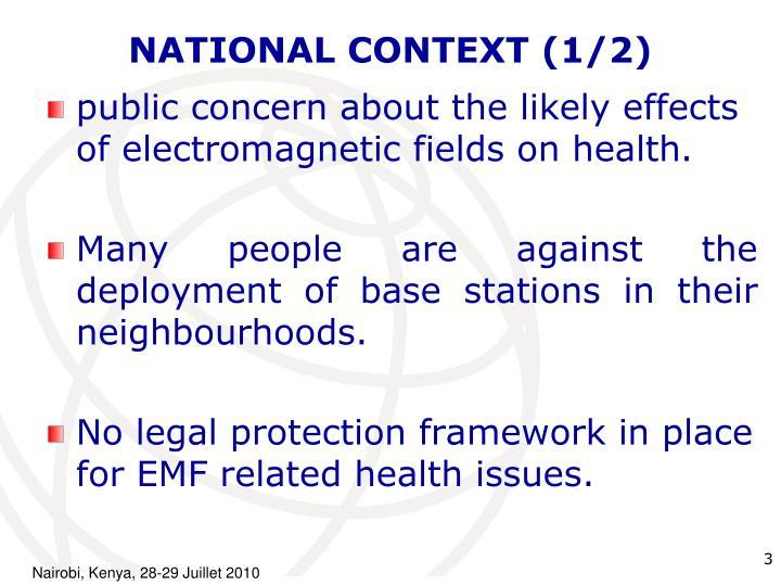 National context 1 2