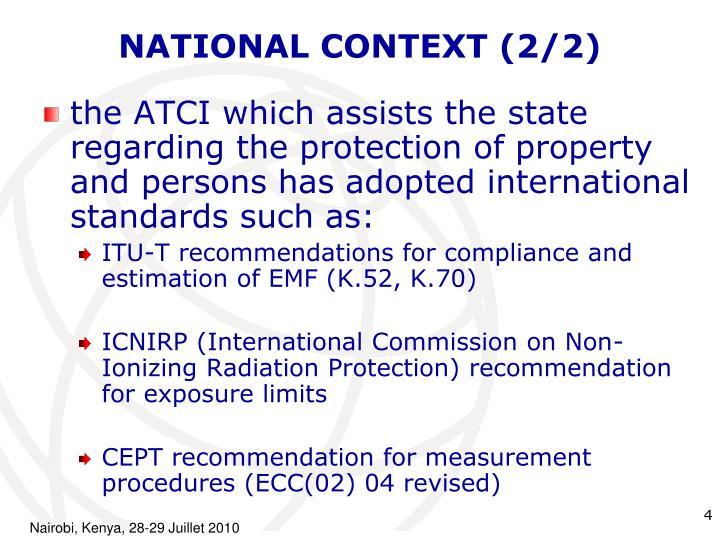 NATIONAL CONTEXT (2/2)