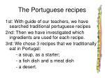 the portuguese recipes