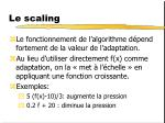 le scaling