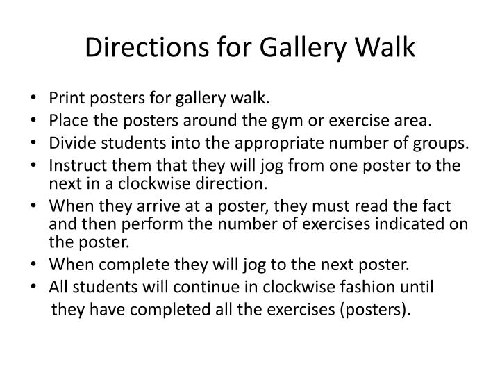 Ppt Directions For Gallery Walk Powerpoint Presentation Id5257268