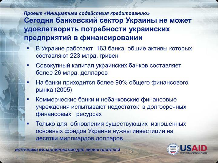 Сегодня банковский сектор Украины не может удовлетвор...