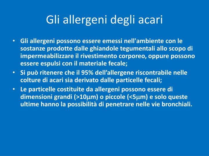 Gli allergeni degli acari