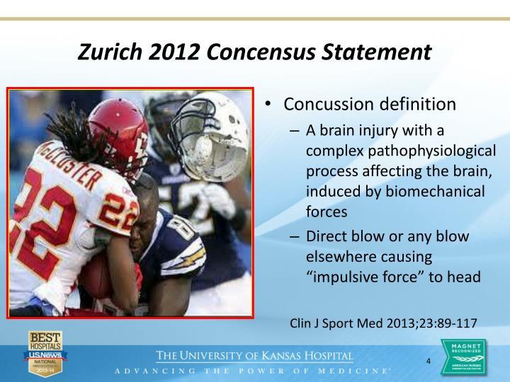 Zurich 2012 Concensus Statement