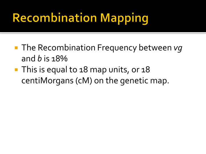 Recombination Mapping