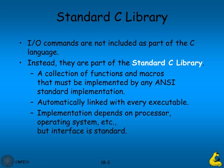 Standard c library