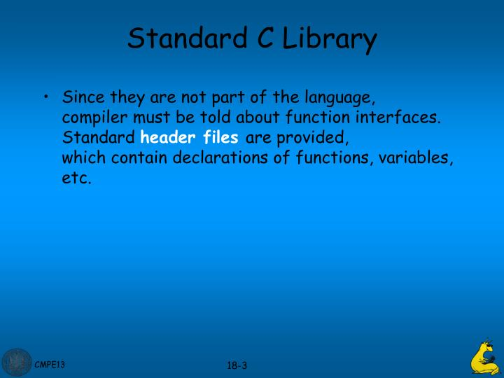 Standard c library1
