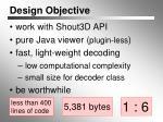 design objective