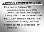 geometry compression x3d
