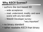 why ascii scenes