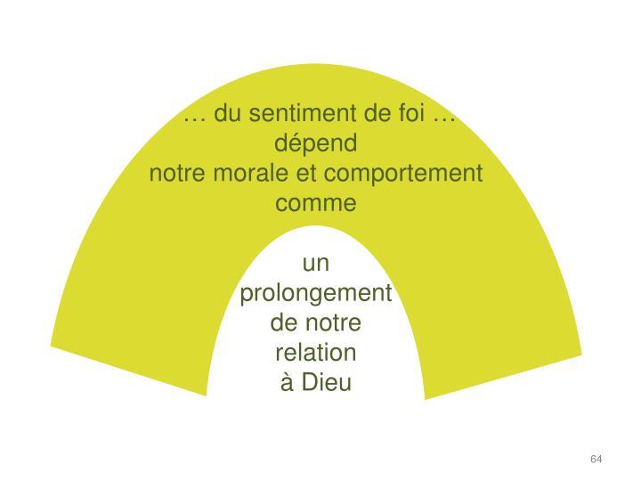 … du sentiment de foi …