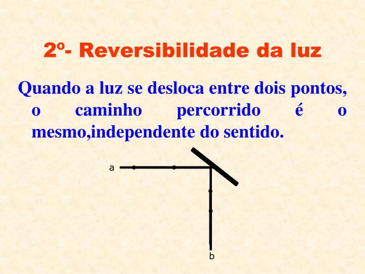 2º- Reversibilidade da luz