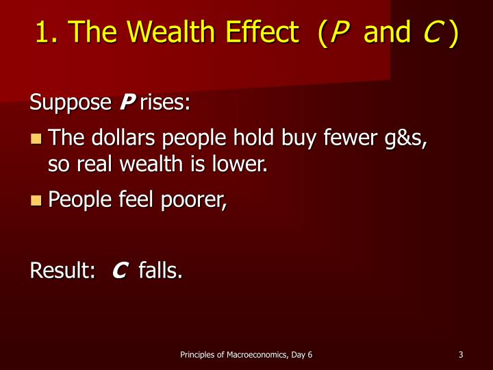 1 the wealth effect p and c