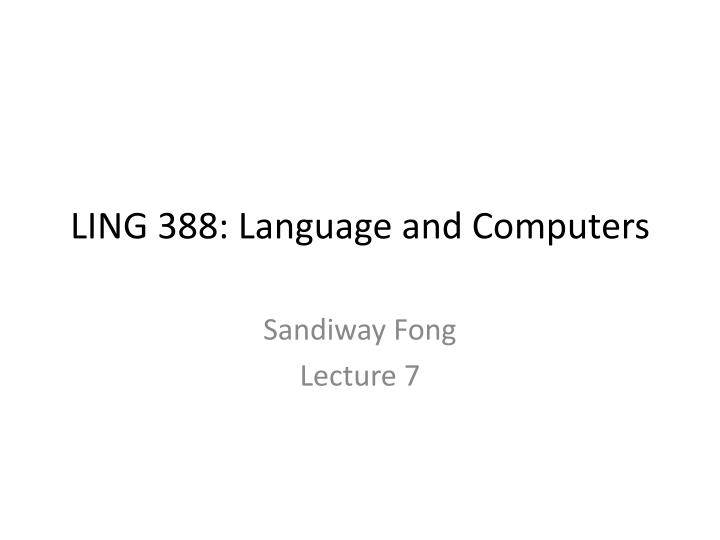 ling 388 language and computers n.