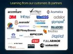 learning from our customers partners