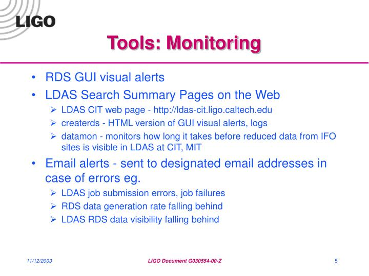 Tools: Monitoring