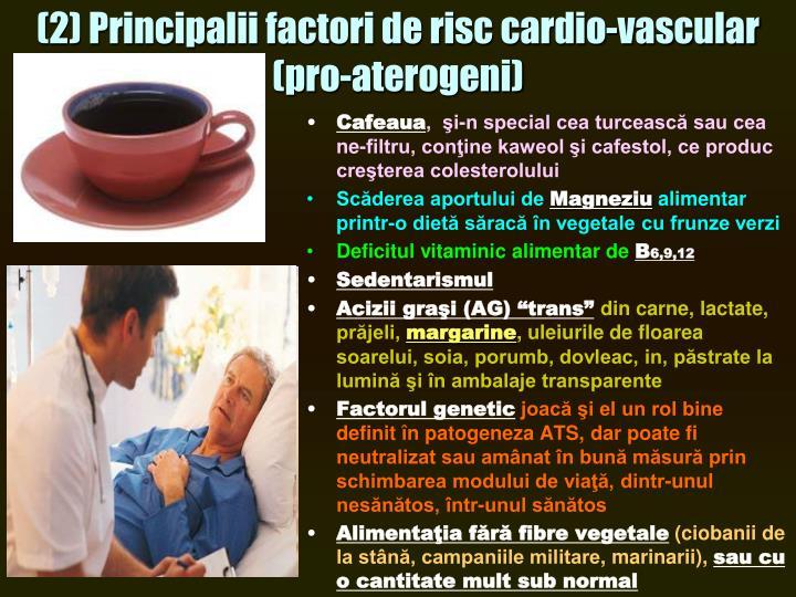 (2) Principalii factori de risc cardio-vascular (pro-aterogeni)