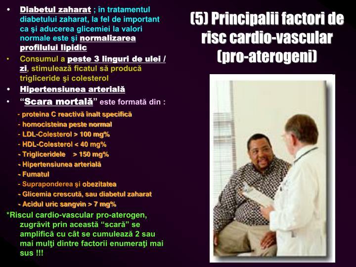 (5) Principalii factori de risc cardio-vascular (pro-aterogeni)
