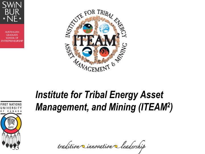 Institute for Tribal Energy Asset Management, and Mining (ITEAM